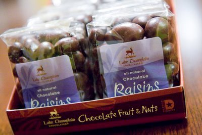 Lake Champlain Chocolates: How Many Raisins Are in a Bag?