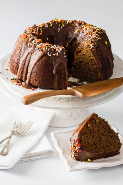 Pumpkin Bundt Cake with Rum and Maple