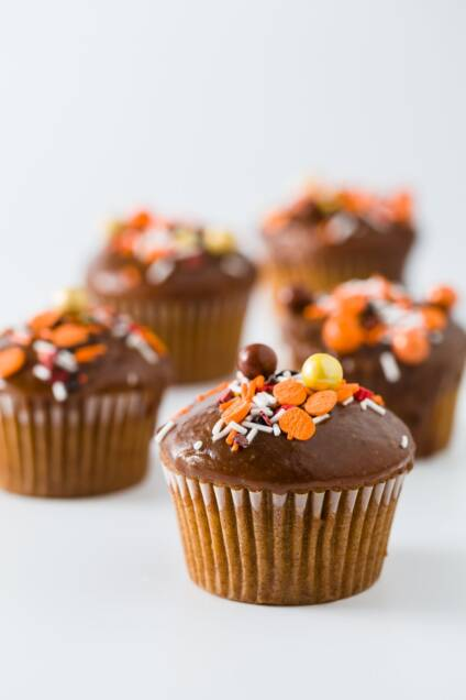 Pumpkin Cupcakes with Rum and Maple