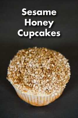 Sesame Honey Cupcakes