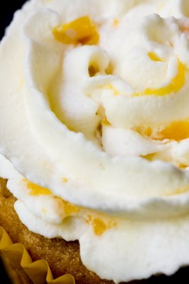 Whipped Cream Frosting with Peaches | Cupcake Project