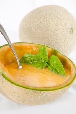 Chilled Cantaloupe Soup with Lemon and Ginger | Cupcake Project