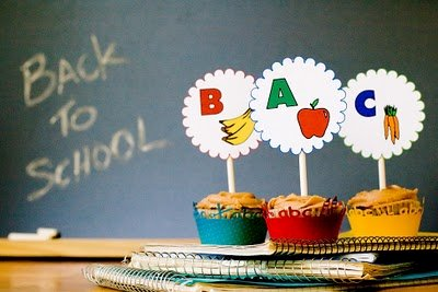 Back to School Cupcakes – (A)pple, (B)anana, (C)arrot