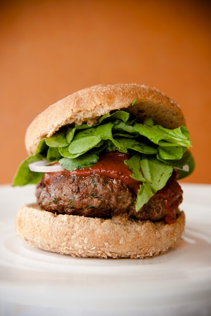 Lamb Burger Recipe with Chocolate and Homemade Ketchup