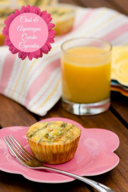 Crab and Asparagus Quiche Cupcakes