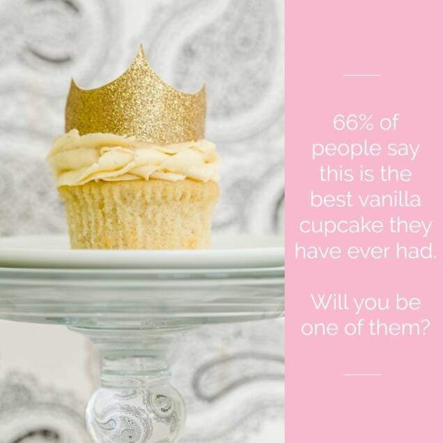 Best Vanilla Cupcake Graphic