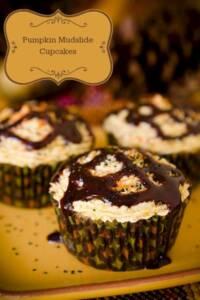 Pumpkin Mudslide Cupcakes
