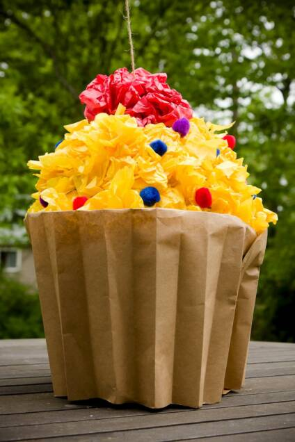 Homemade Cupcake Piñata Filled with Cupcakes