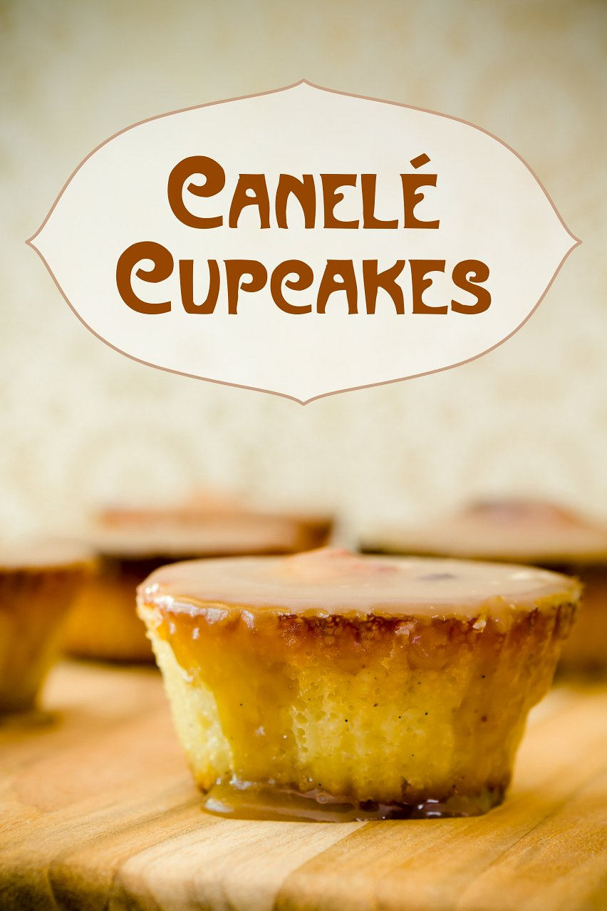 Canelé Cupcakes with Spiced Rum Caramel Frosting | Cupcake Project