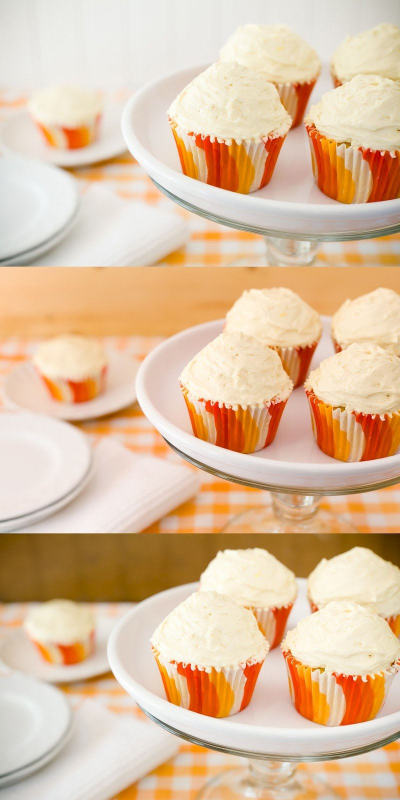 Orange Creamsicle Cupcakes With Orange Salted Caramel Buttercream