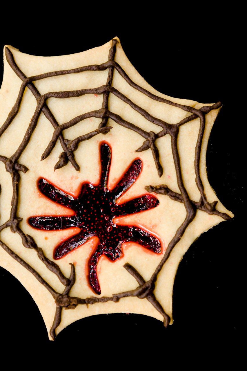 Spooky Spider Stained Glass Cookies for Halloween ...