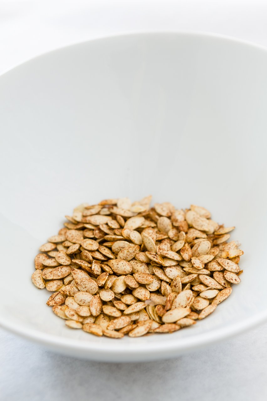 Sweet and Salty Toasted Pumpkin Seeds Recipe