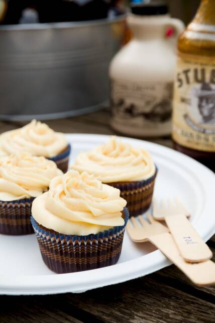BBQ Maple Syrup Cupcakes