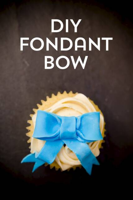 how to make candy bows for cupcakes