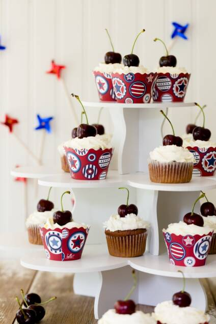 Cherry Cobbler Cupcakes for July 4th