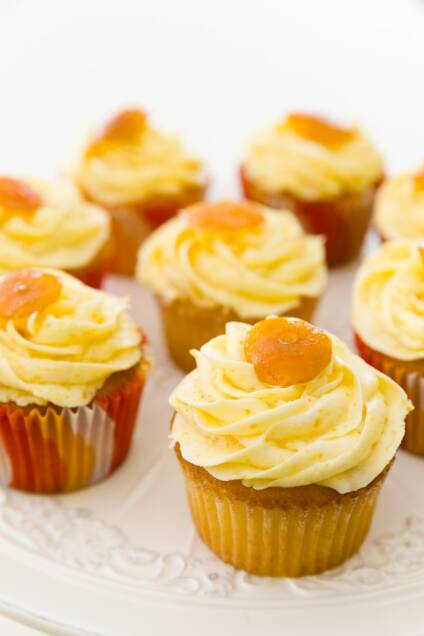 Calamondin Cupcakes are Smiles and Sunshine