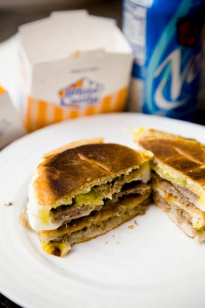 Egg McCastle – An Extreme White Castle Breakfast Sandwich
