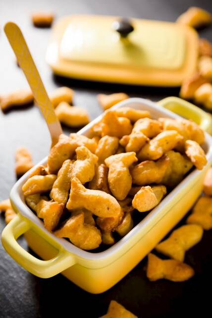 Gourmet Goldfish Crackers Recipe for Parade Magazine