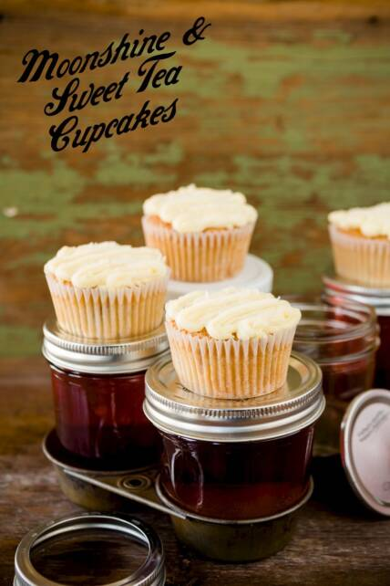 Moonshine Sweet Tea Cupcakes