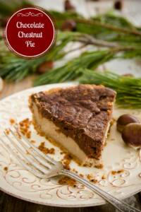 Must-Try Christmas Pie - Chocolate Chestnut Pie