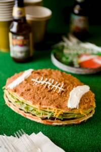 Super Bowl Seven Layer Dip Crepe Cake