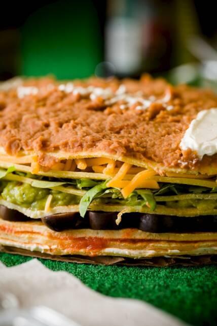 Seven Layer Dip Cake