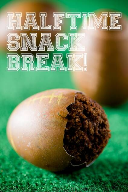 An Extreme Super Bowl Cupcake Makeover for Easter Eggs