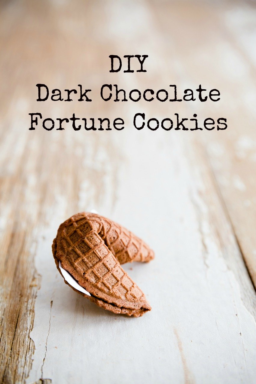 DIY Dark Chocolate Fortune Cookies