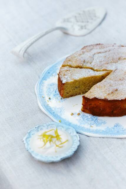 Lavender lemon & honey cake