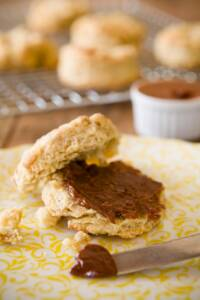 Coffee Buttermilk Biscuits with Dark Chocolate Cinnamon Butter