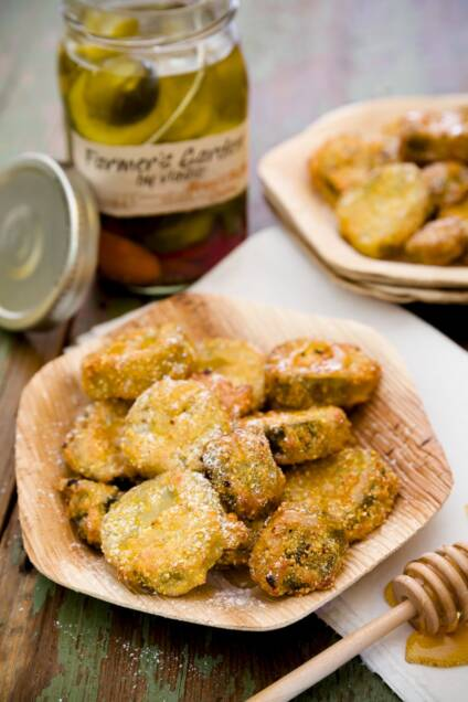 Sweet Cornmeal Deep Fried Pickles