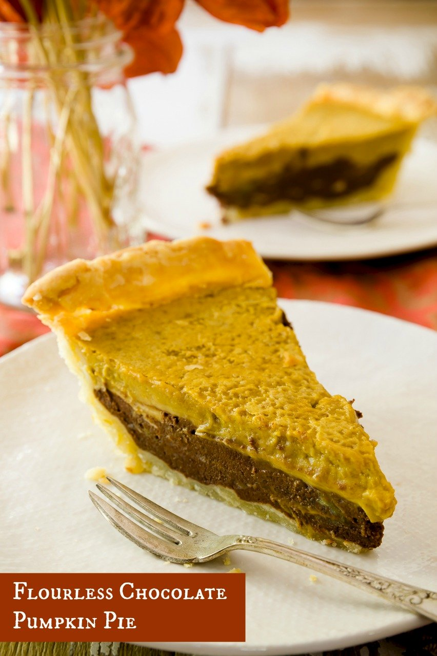 Flourless Chocolate Pumpkin Pie