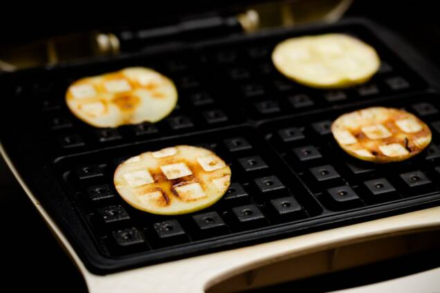 Waffled Apples