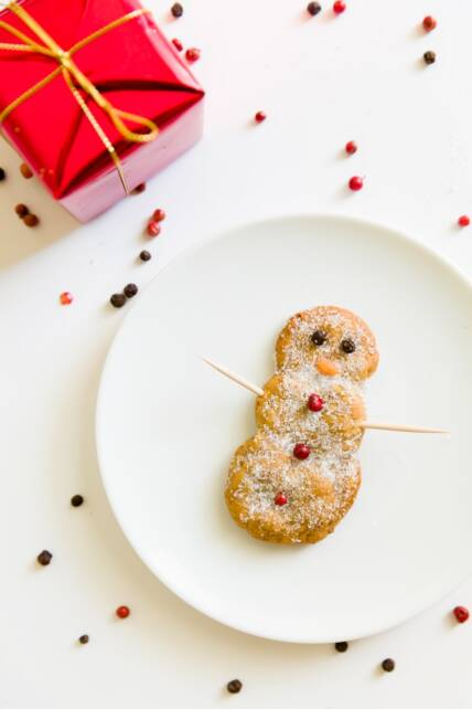 Peppernut Snowmen Cookies
