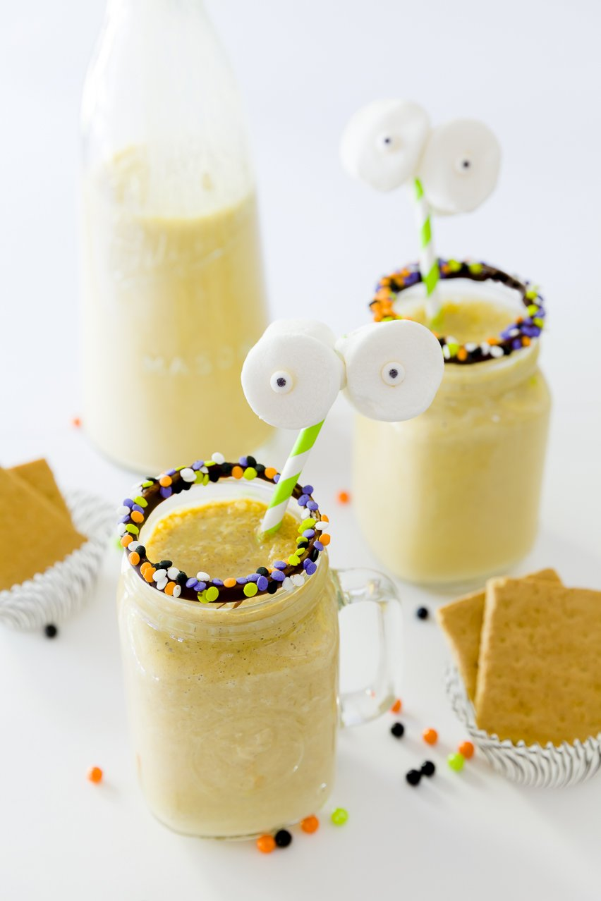 Frozen Pumpkin Mudslides - The Halloween Drink Recipes — Dishmaps