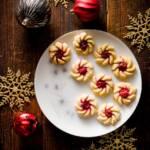 Cherry Vanilla Spritz Cookies