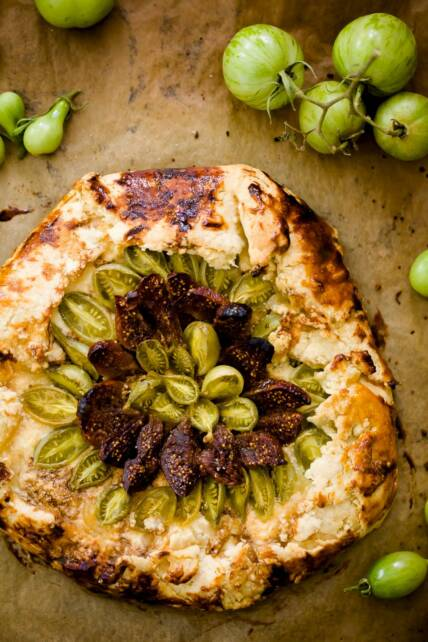 Late Harvest Green Tomato and Fig Galette