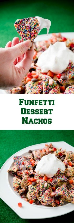 Loaded Funfetti Dessert Nachos