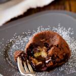 Cookie Dough Molten Chocolate Cake