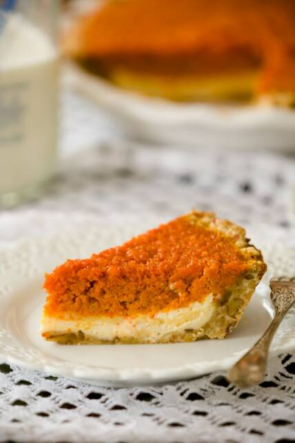 Showstopper Carrot Pie with Pecan Brown Sugar Crust