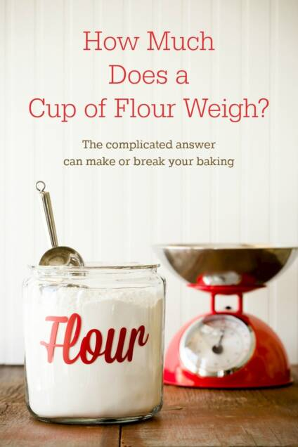 How Much Does a Cup of Flour Weigh?  I Weighed 192 Cups of All-Purpose Flour to Find Out.