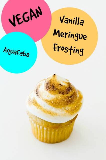 Vegan Vanilla Meringue Frosting Made with Aquafaba