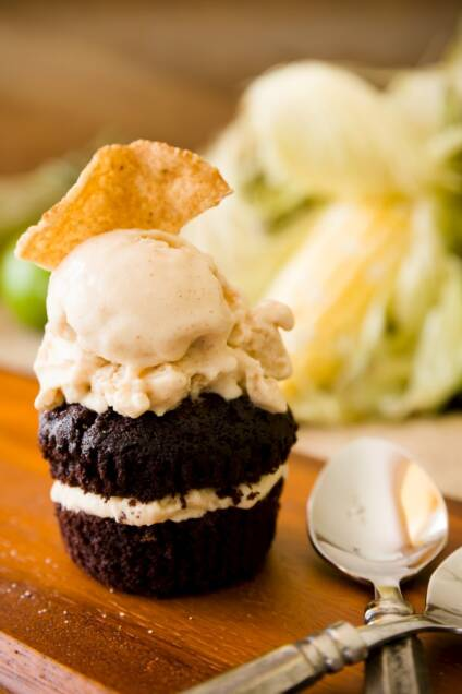 Spicy Chocolate and Mexican Street Corn Ice Cream Cupcakes