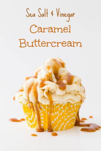 Sea Salt and Vinegar Caramel Buttercream Frosting