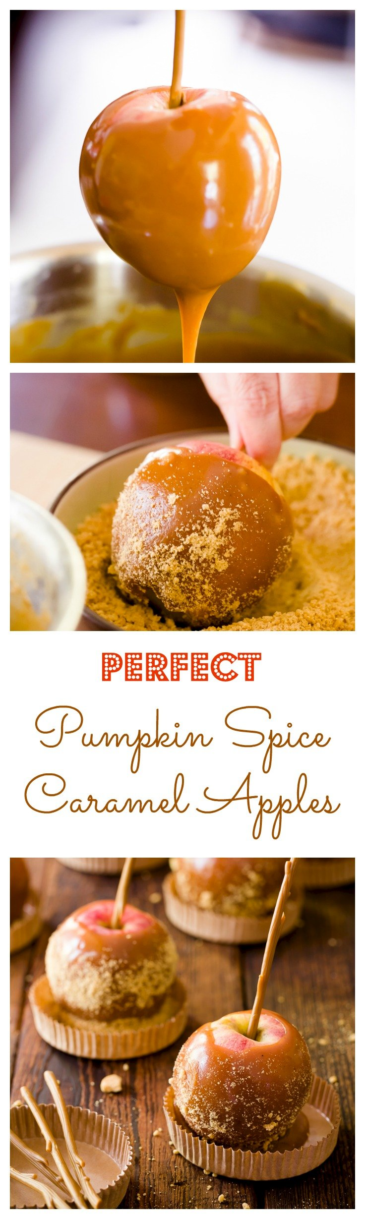 Perfect Pumpkin Spice Caramel Apples