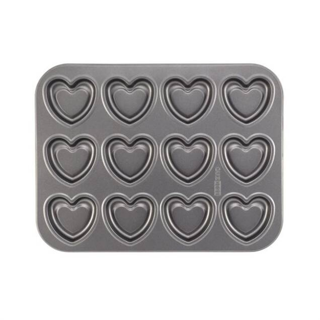 Cake Boss Baking Heart Molded Cookie Pan