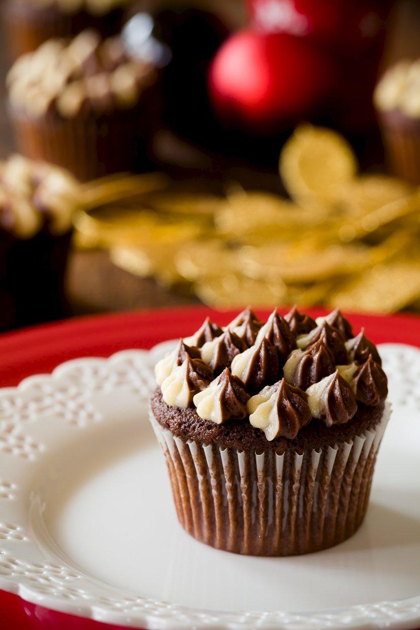Cappuccino Eggnog Angel Food Cupcakes Recipe — Dishmaps