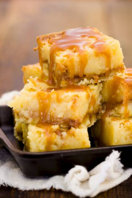 Salted Caramel Gooey Butter Bars