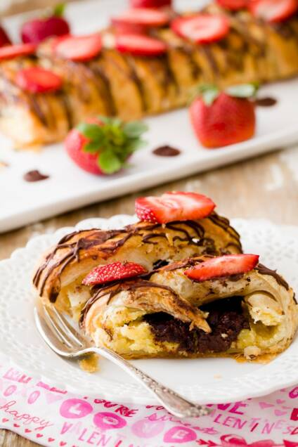5 Ingredient Chocolate Almond Cheese Danish
