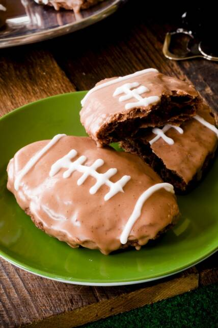 Superbowl Brownie Hand Pies